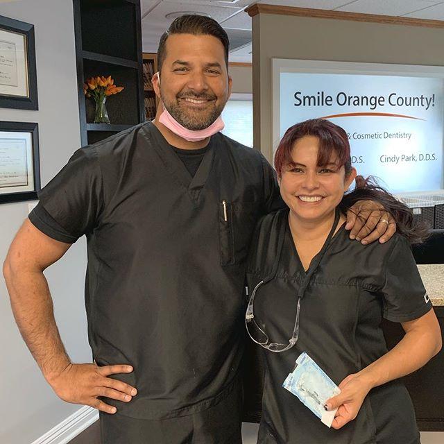 Oral Surgery Day w/ Dr. Chopra & his awesome assistant Mireya.  #oralsurgery #oralsurgeon surgeon #rda #dentistry #smileorangecounty #dentist #orangecounty #generaldentistry #cosmeticdentistry #missionviejo #southorangecounty #wisdomteeth #implantsurgery #extractions #sedation #newpatientswelcome