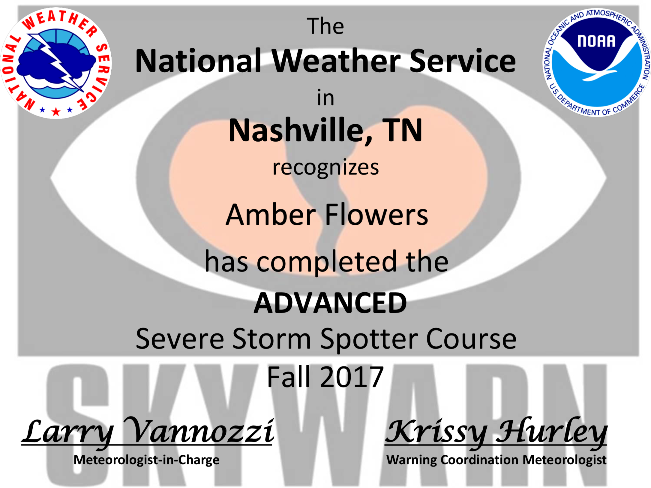 Advanced Severe Spotter Online Course  National Weather Service Fall 2017   Skywarn Spotter Training  National Weather Service 2011, 2013, 2018, 2019