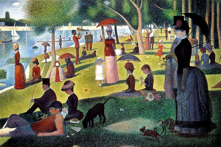 """""""A Sunday Afternoon on the Island of La Grande Jatte"""" (1884) - Georges Seurat"""