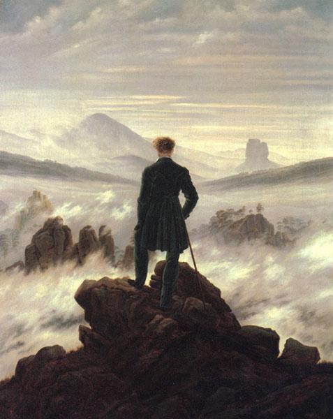 """""""The Wanderer"""" (1818) - Caspar David Friedrich"""