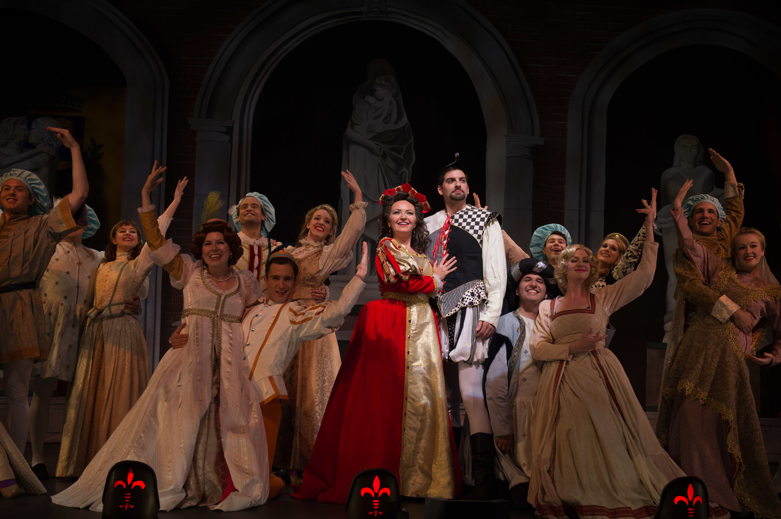 The Company of Kiss Me, Kate (photo by Matt Dilyard)