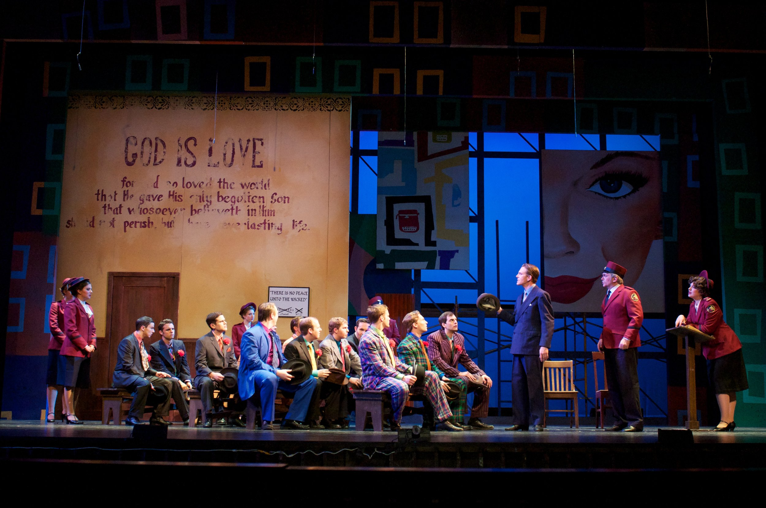 The Company of Guys and Dolls (photo by Matt Dilyard)