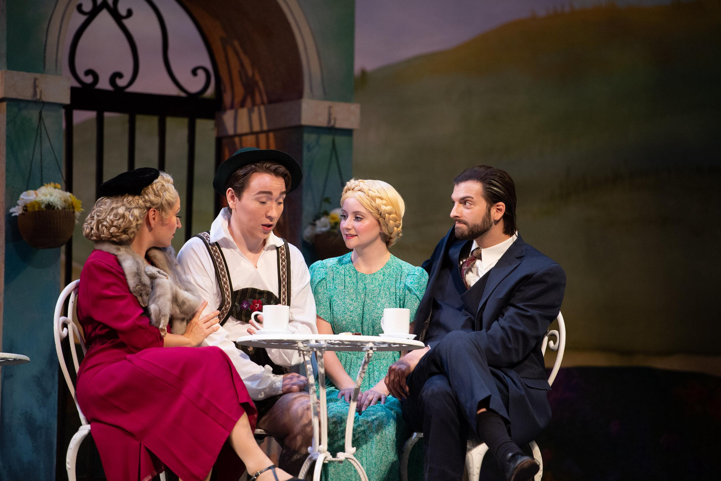 Bruno Mahler, with Tanya Roberts, Sadie Spivey, and Adam Wells (photo by Matt Dilyard)