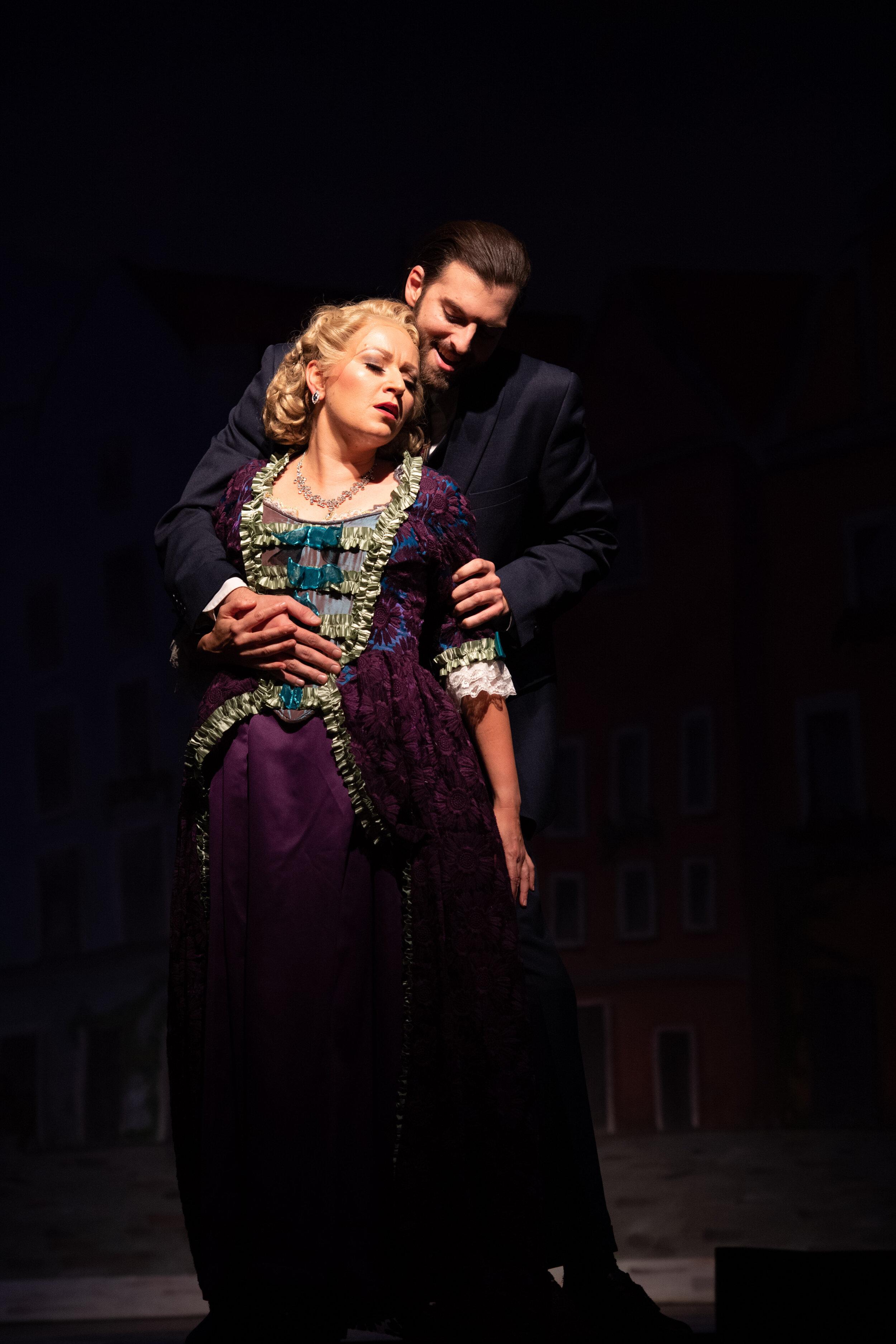 Bruno Mahler, with Tanya Roberts (photo by Matt Dilyard)
