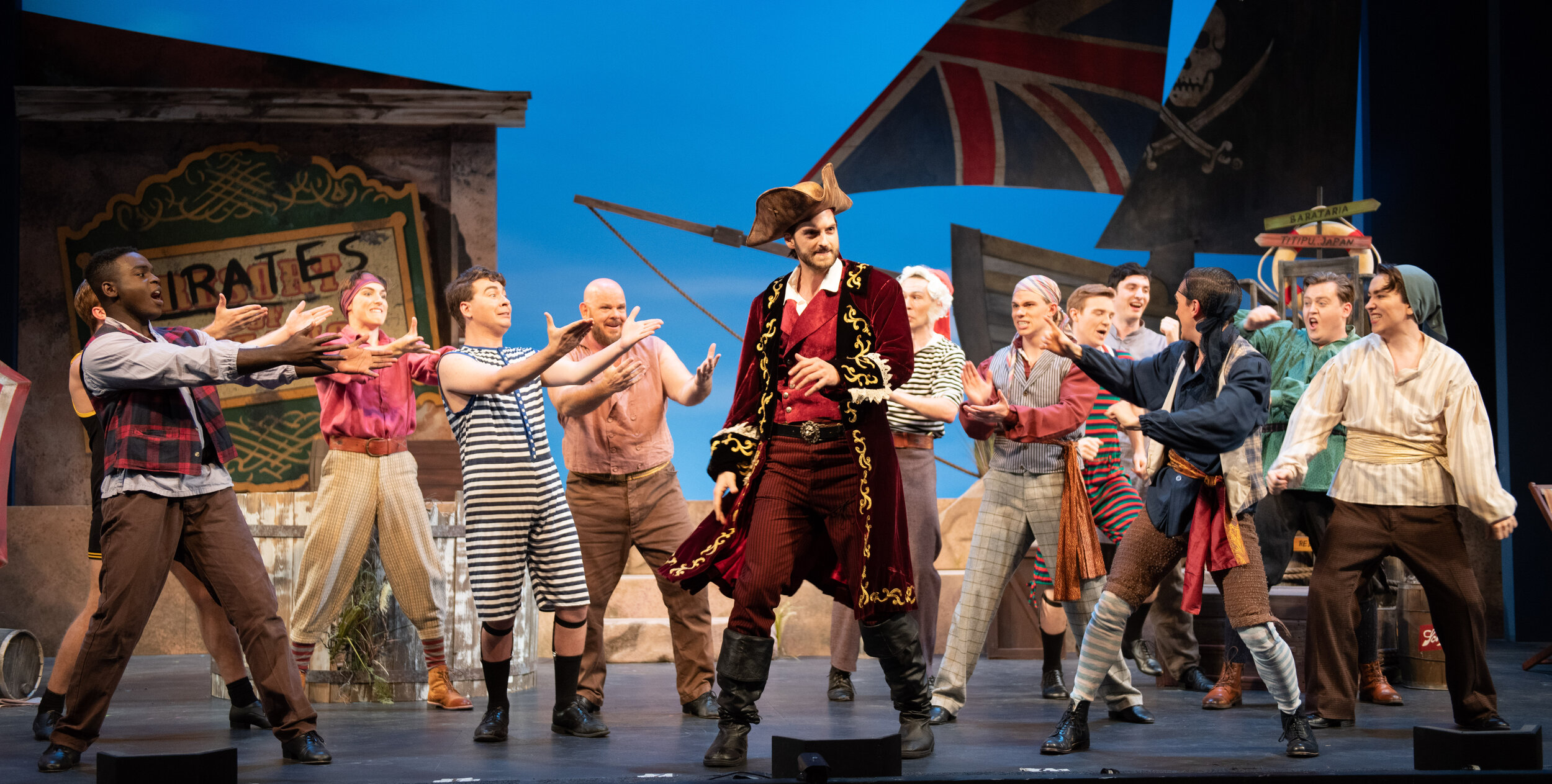 The Pirate King, and the cast of The Pirates of Penzance (photo by Matt Dilyard)