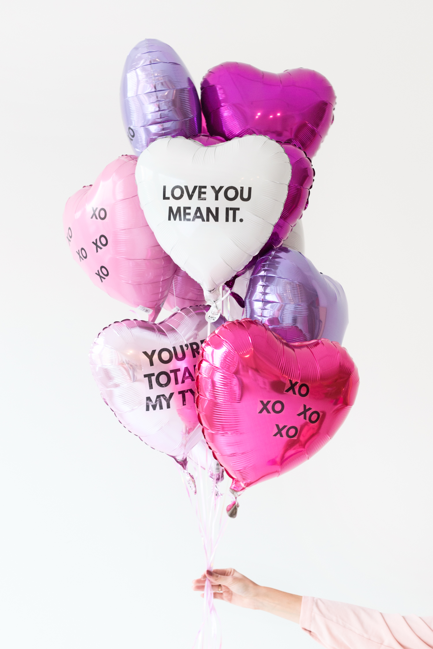 Studio DIY | Don't hand out basic balloons.Add a cute message to your balloons by sticking one of these tattoos on them.