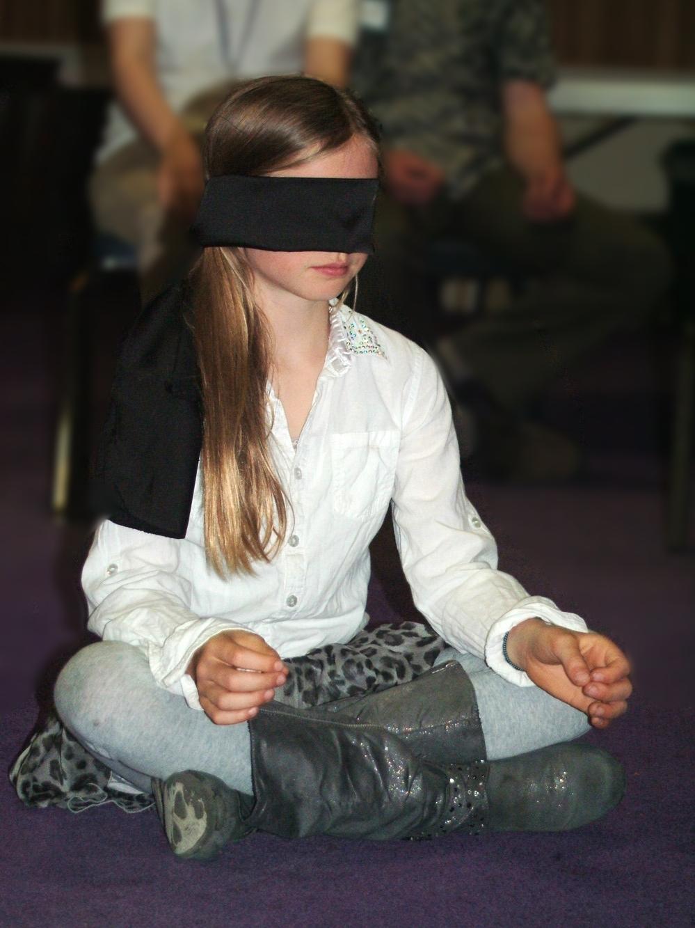 A child in quiet contemplation