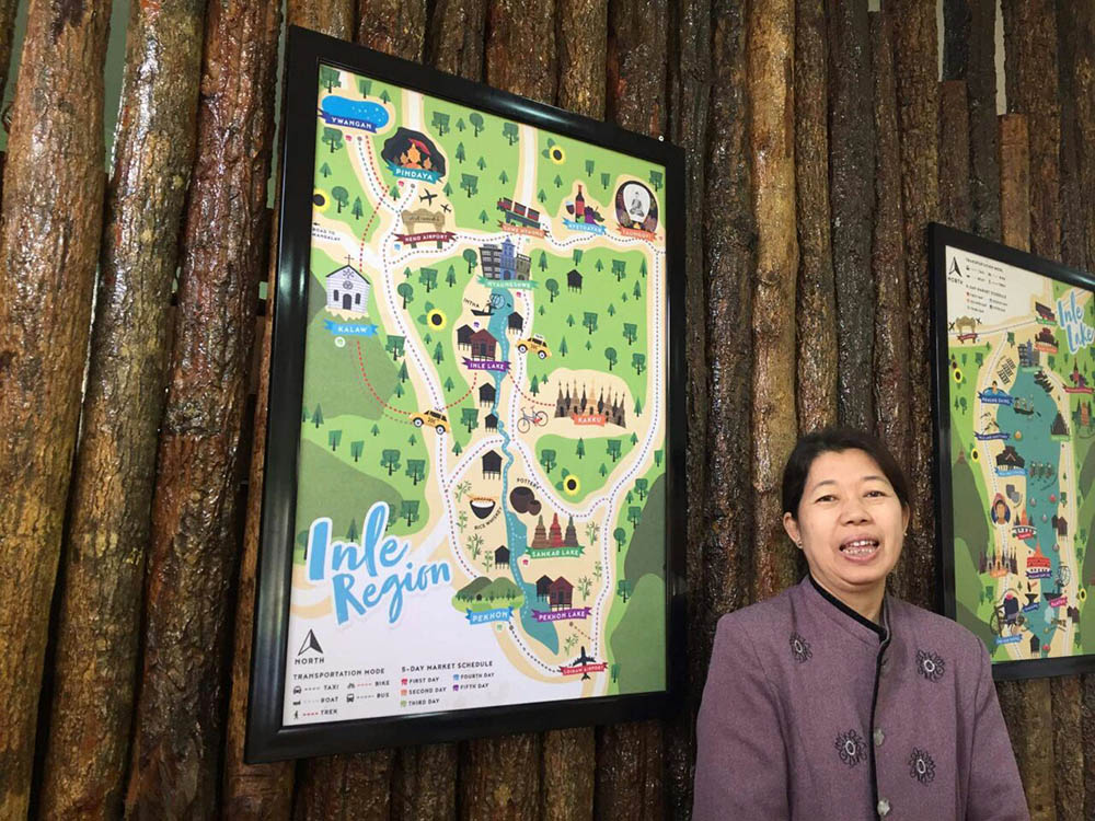 The lady was so happy and even decided to hang the map on the wall to showcase it :)