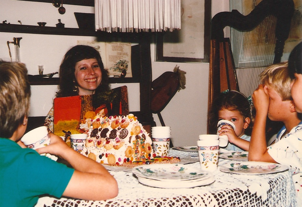 There was always baking going on at my house so sweets became a big thing for me. Did you see the gingerbread house?