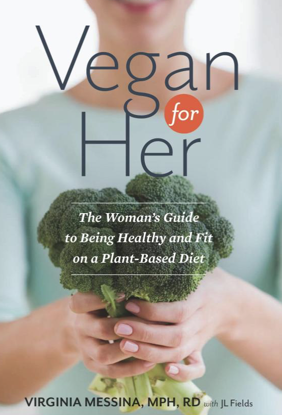 Vegan for Her - by Virginia Messina with Jl FieldsMy go-to resource on vegan nutrition for women by my favorite registered dietitian. It introduces the plant plate, a vegan version of the food pyramid (which I literally have framed in my kitchen), and answers every vegan question that concerns health and nutrition on a plant-based diet for women.