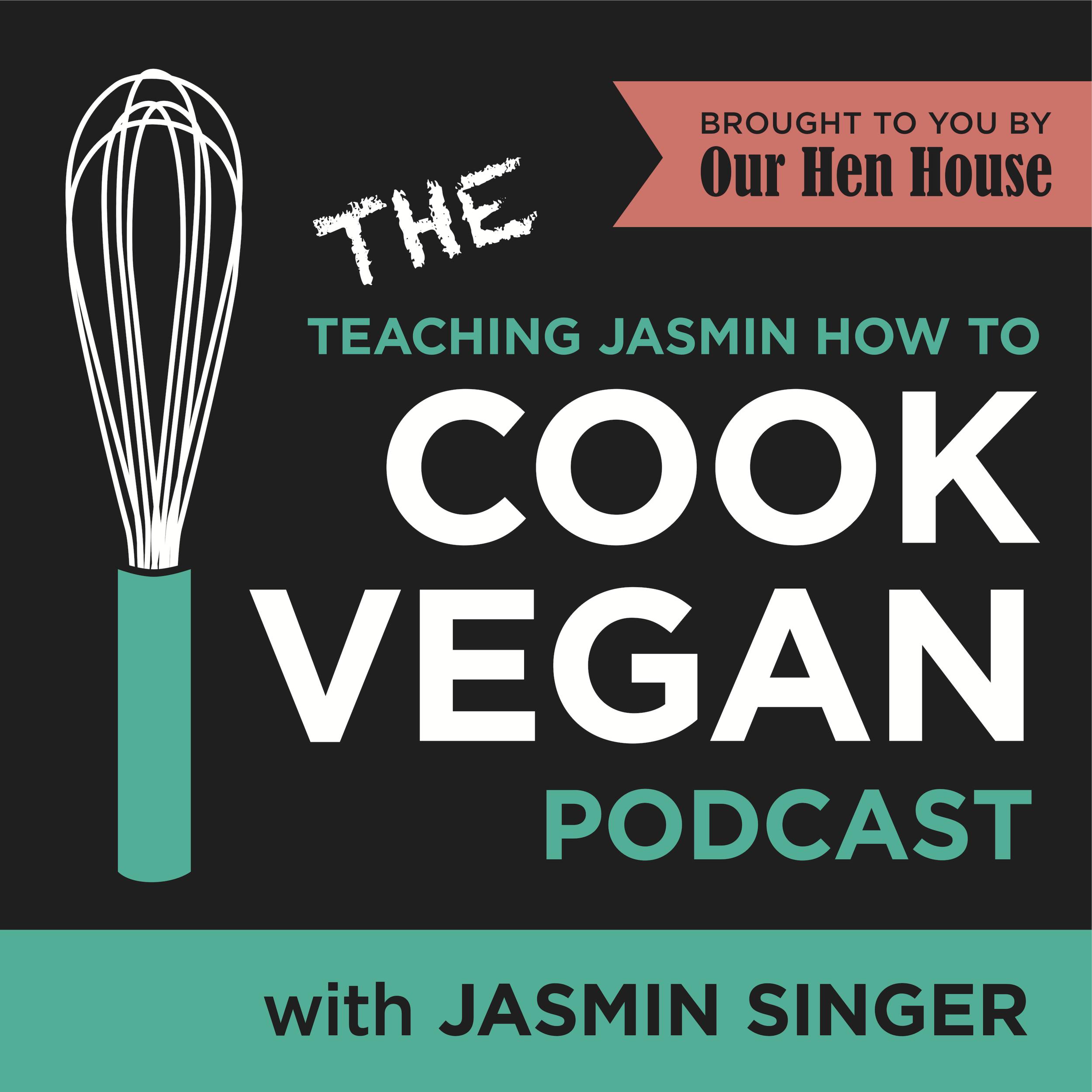 Teaching Jasmin how to cook vegan -