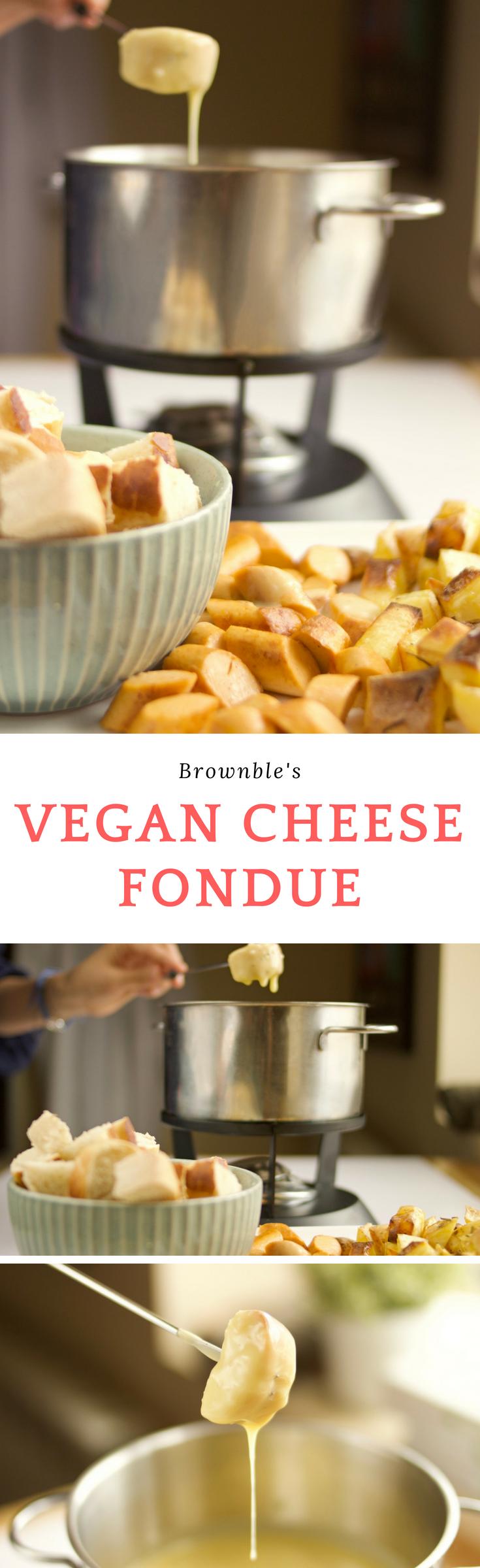 The Cheesiest Vegan Cheese Fondue Recipe by Brownble