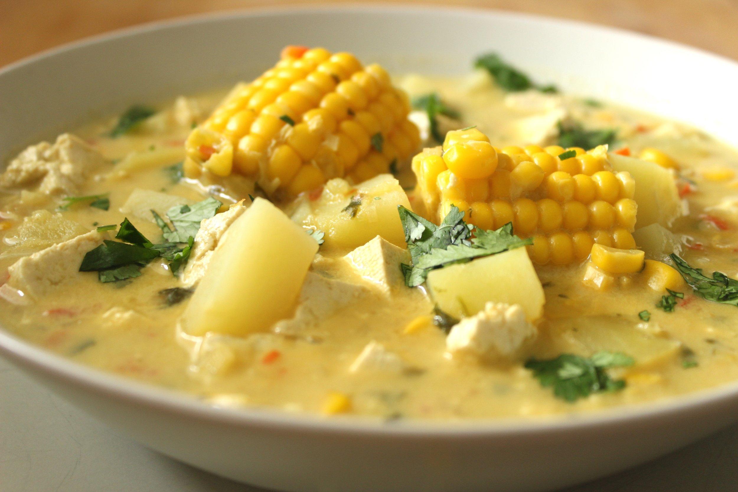 Vegan Chupe, aDelicious Corn and Potato Chowder   Brownble