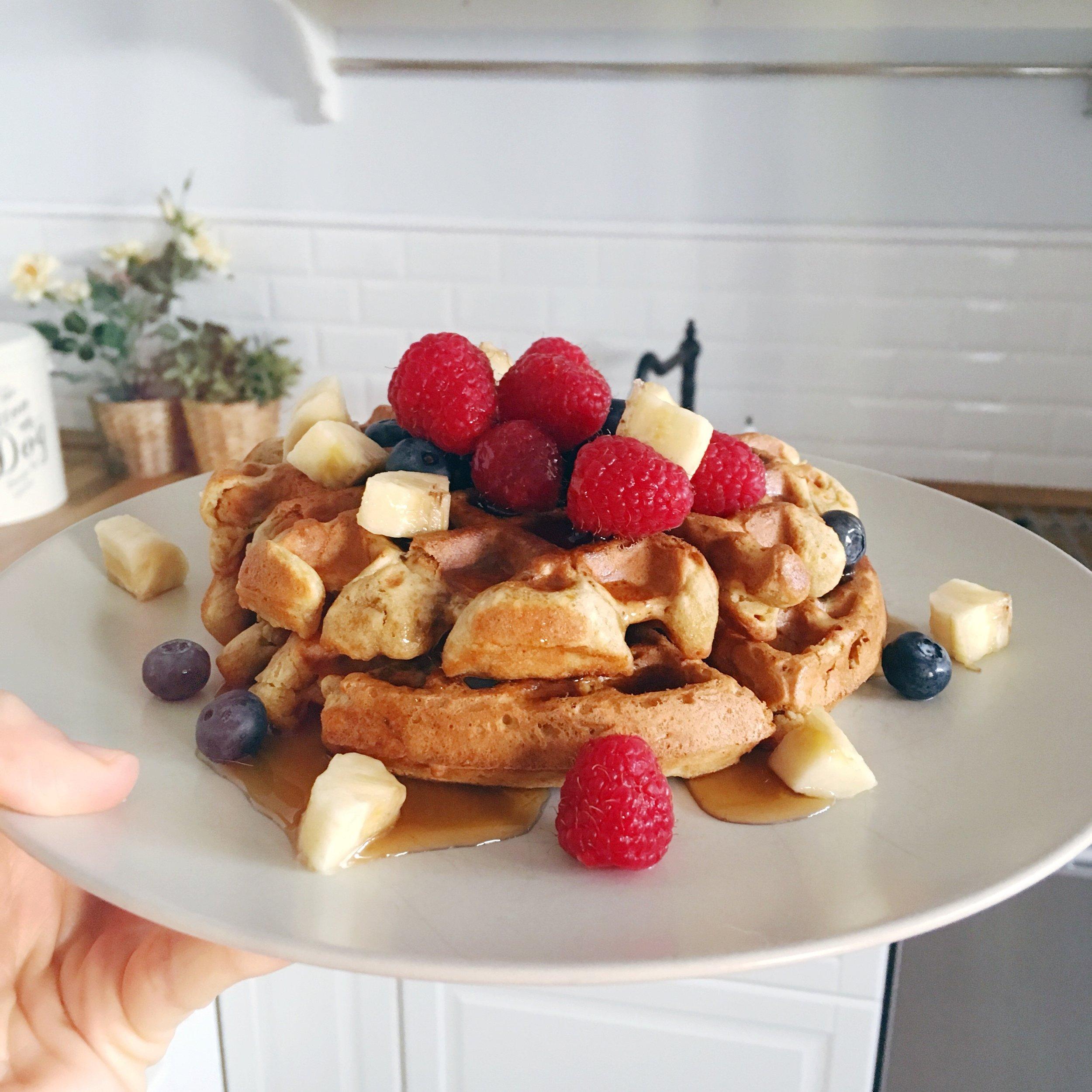 The Perfect Vegan Waffles ! Egg free waffles · Dairy free waffles