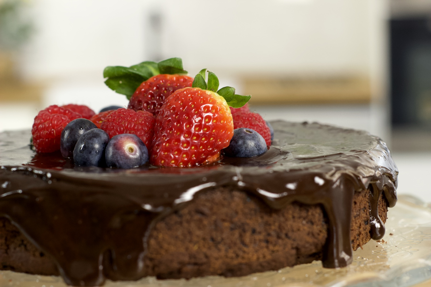 Gluten Free and Vegan Healthy Chocolate Cake Recipe