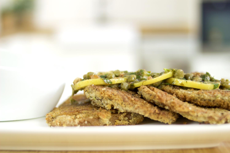 Crispy seitan scaloppini recipe | Vegan scaloppini piccata | Brownble
