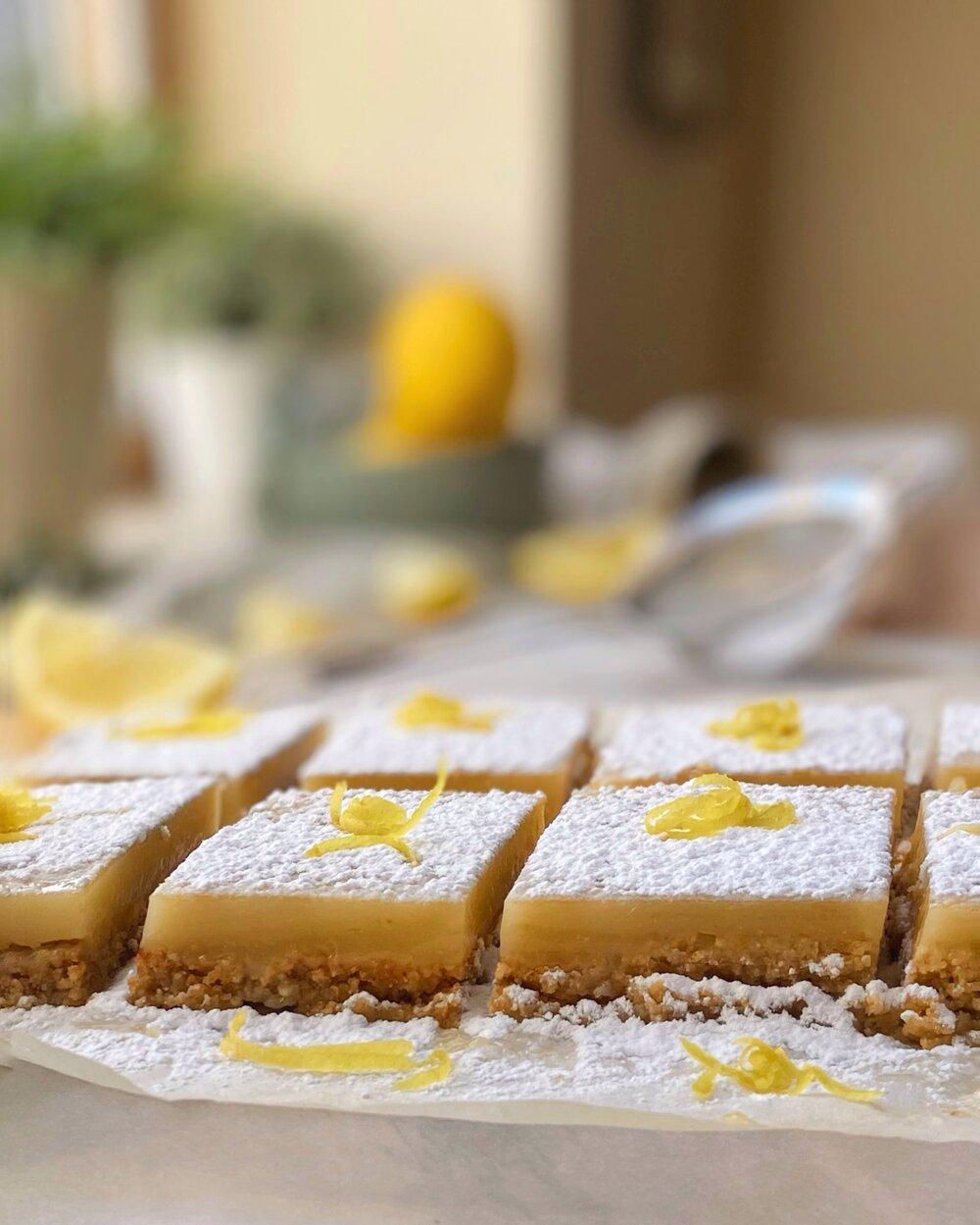 Vegan Gluten Free Lemon Squares or Bars | Brownble