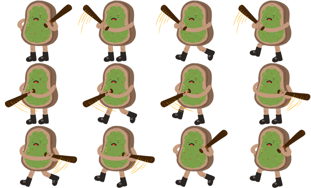 Player 1 - Avo Toast Sprites