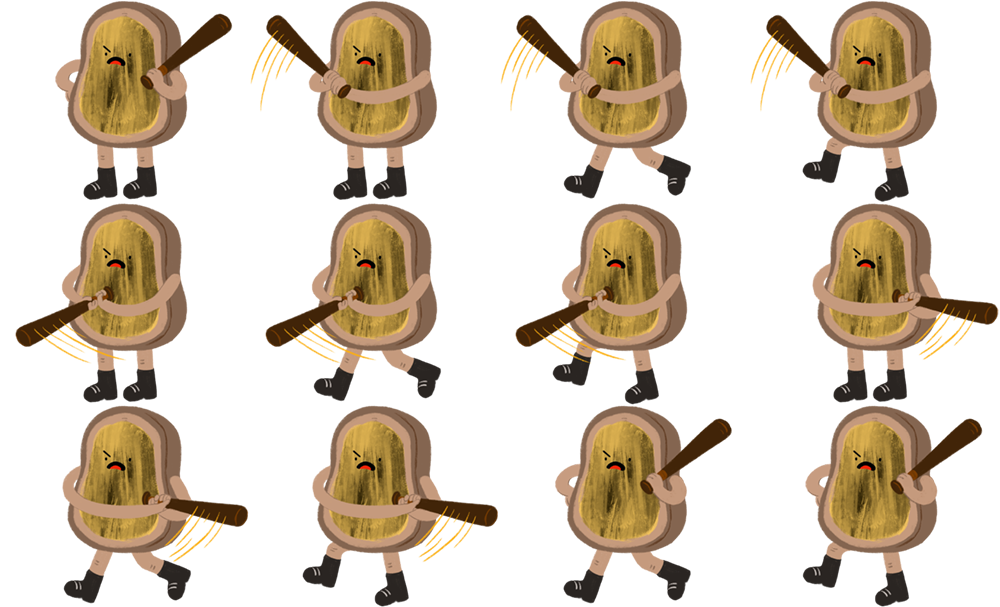 Player 2 - Vegemite Toast Sprites