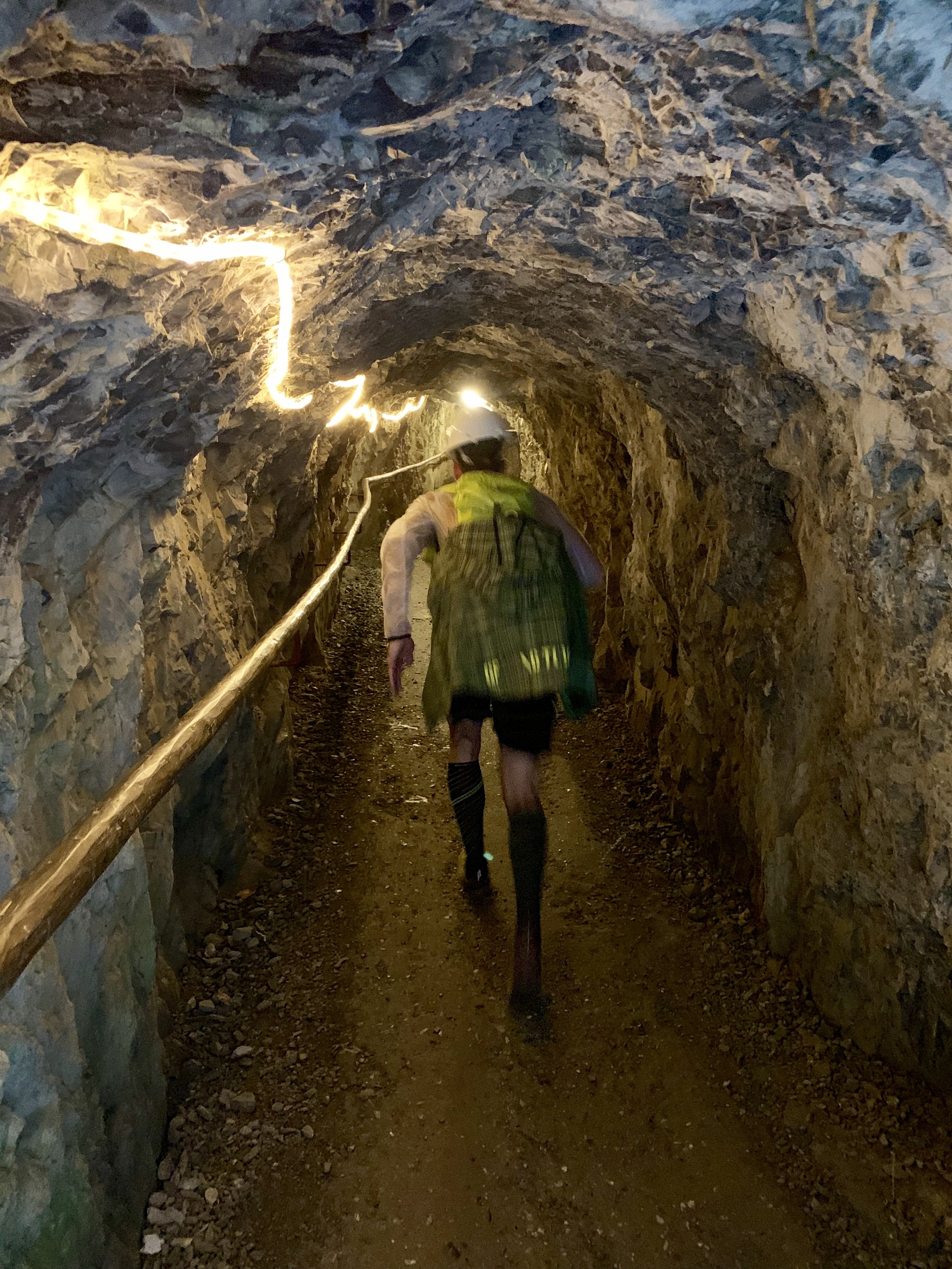 The only time we crossed a mountain by running through a tunnel