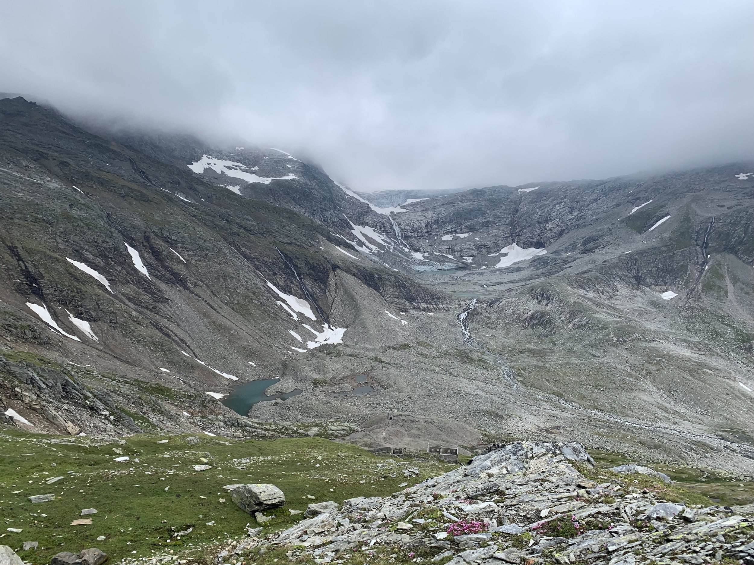View towards the valley