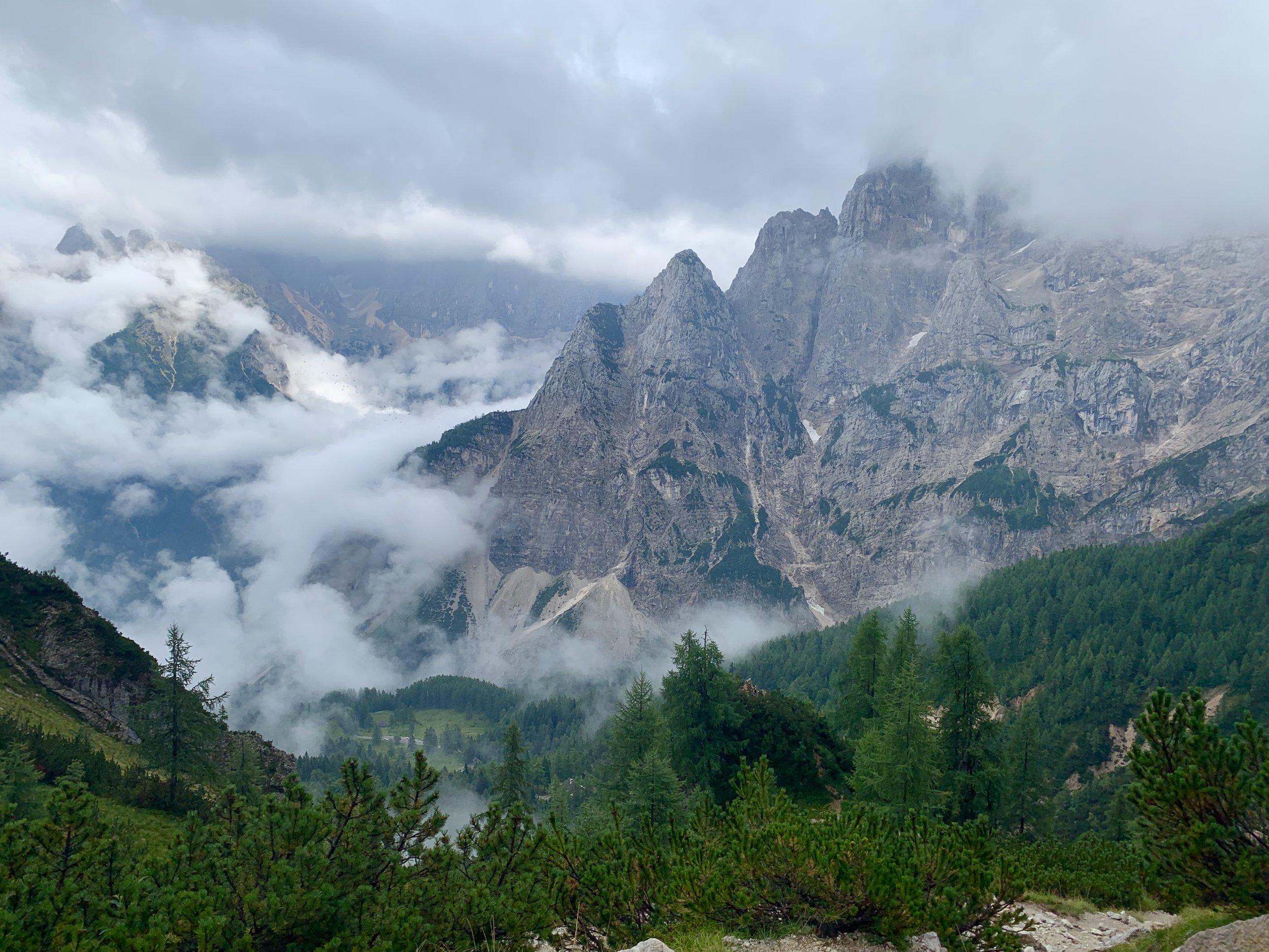 View towards Vrsic Pass