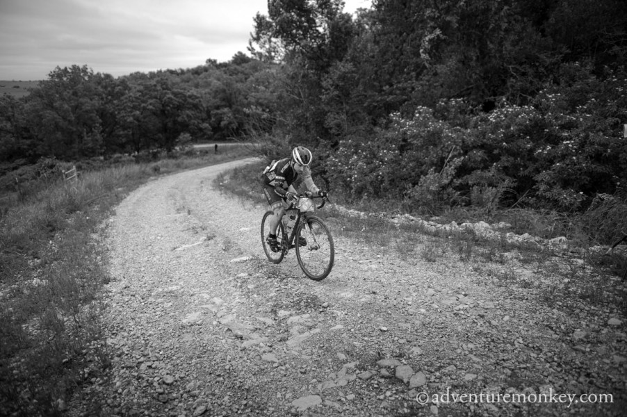 Not me, but you get the idea of the terrain and the climbs.