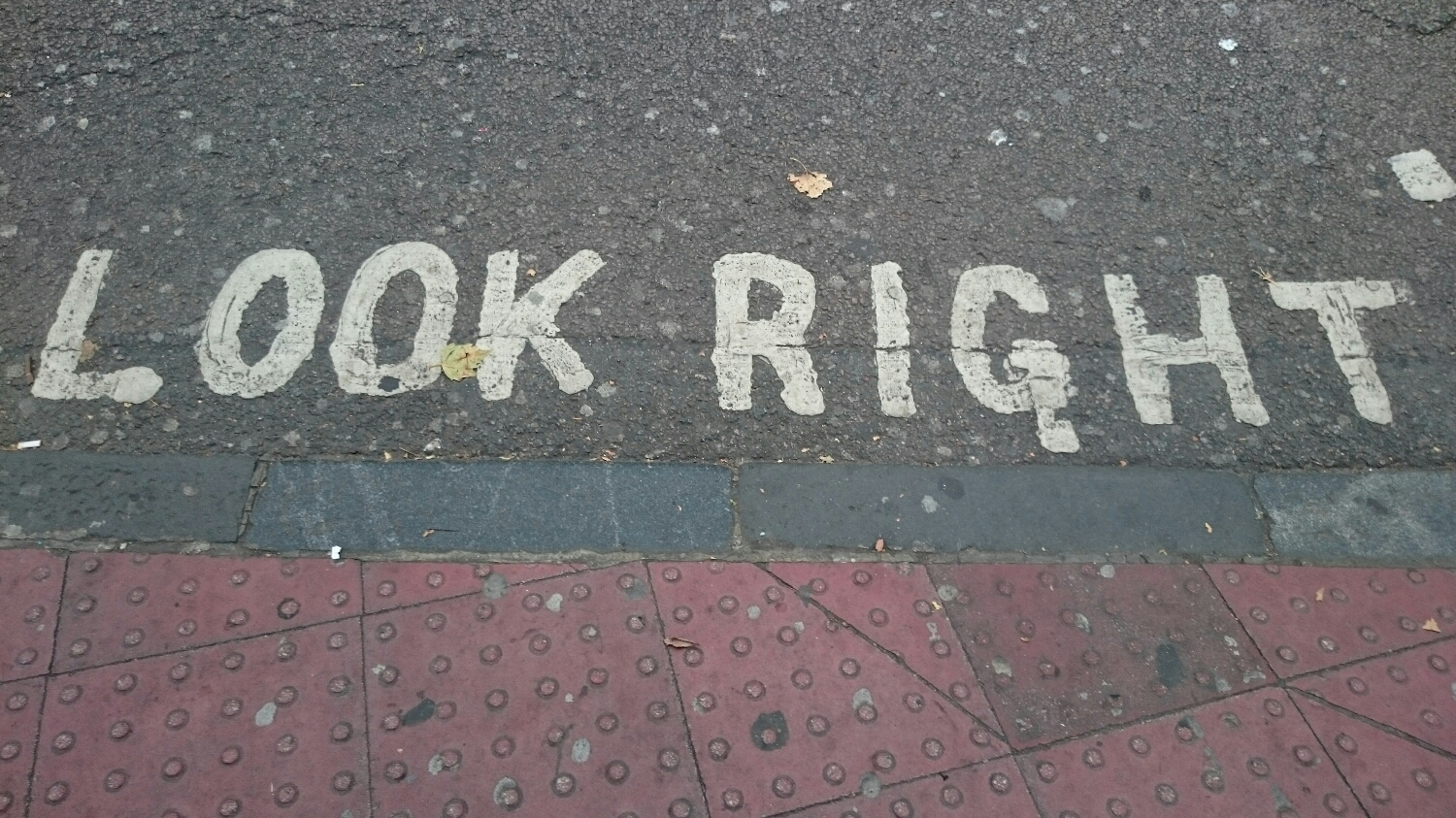 Seriously... Look right!