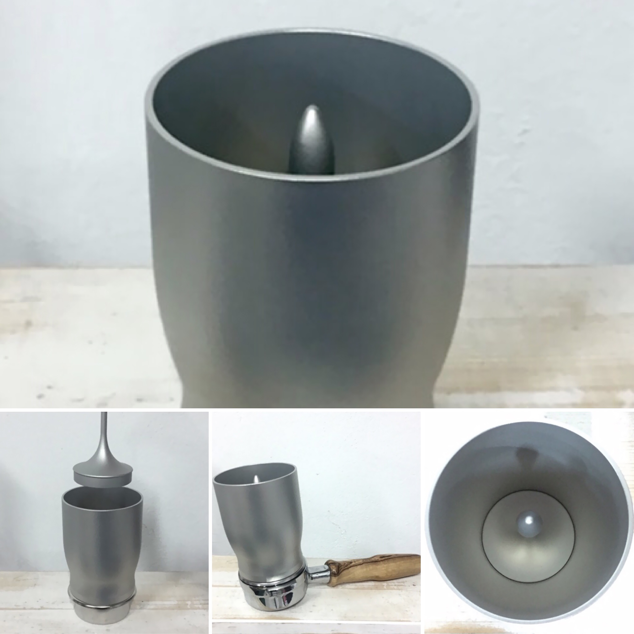 Filling Funnel for Portafilter 58/58.5 mm - Expected in Silver, Black, INOX