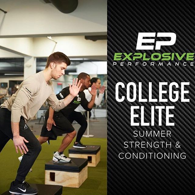 "More details to come...but this summers program for college athletes and those preparing for college is going to be first class. I am so excited to get started with our college crew because this year Team EP is stepping up our game to give you a chance to train like a professional athlete.  Get ready for your teammates to say, ""What were you doing over summer???!!!"" Alongside great motivators and highly educated coaches, we will be Training with the best performance equipment in available. @vertimax @woodwaytreadmills @keiserfitness @cybexintl and it's not just about what you do in the Weightroom or field that will take you to the next level, it's how you recover so you can continue to grind all summer long. With planned regeneration days utilizing @tp_therapy pool workouts and recovery stretch in the sauna, you will be able to push harder in the workouts AND feel fresh throughout the summer.  If you're serious about your training this summer, DM me and we can schedule a consult to plan out your summer training. @explosiveperformance #trainwithpurpose"