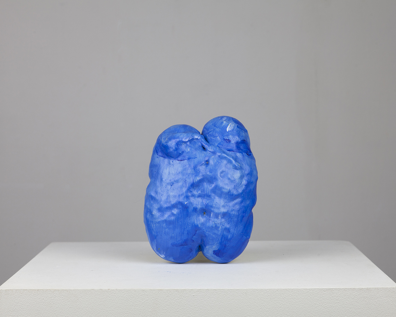 Blue expanding foam paint gesture (we two blues together clinging) from the series complex single strokes and multiple strokes