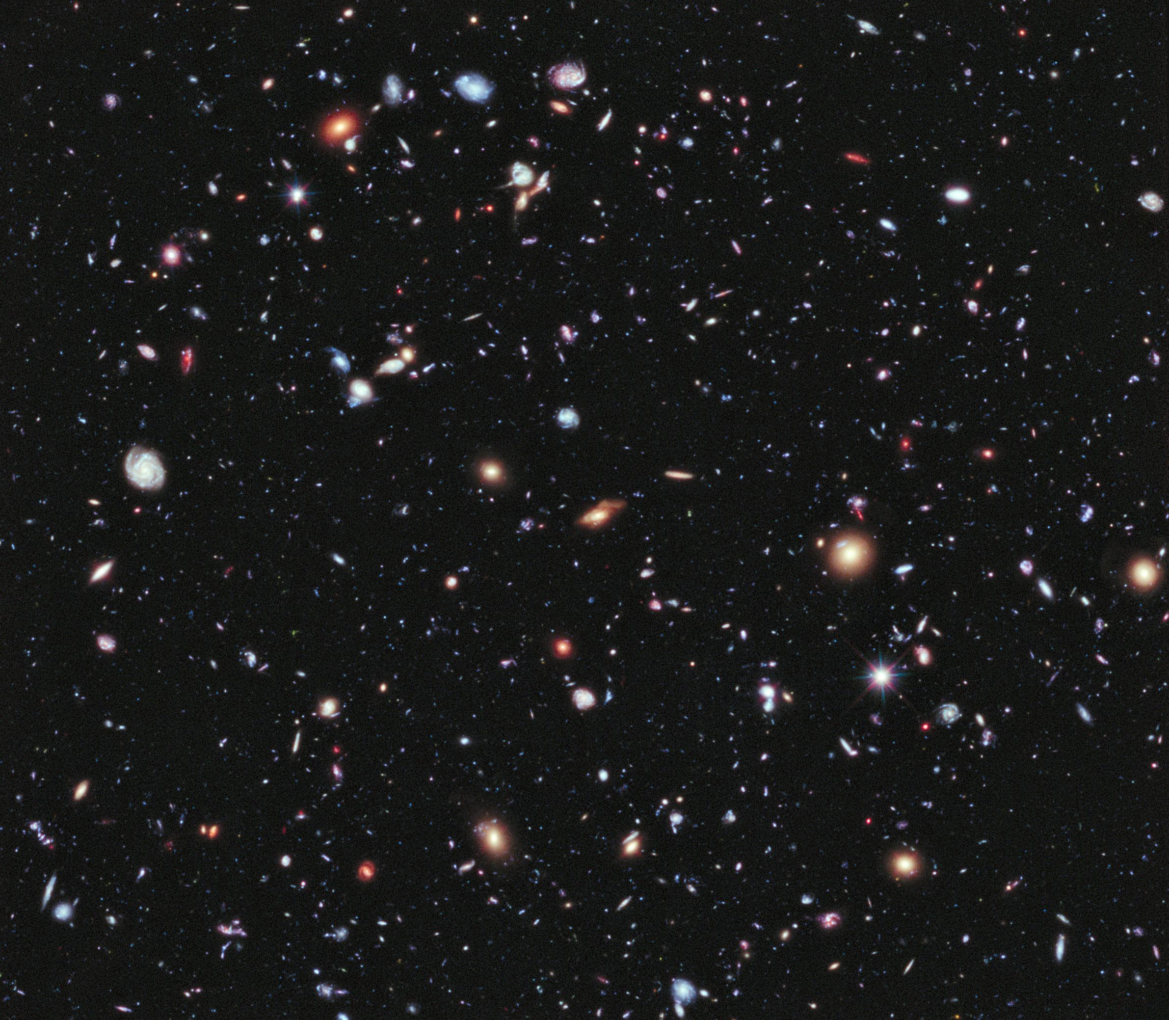 Image credit: NASA; ESA; G. Illingworth, D. Magee, and P. Oesch, University of California, Santa Cruz; R. Bouwens, Leiden University; and the HUDF09 Team
