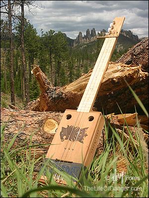 The first 3-string Cigar Box guitar I built.