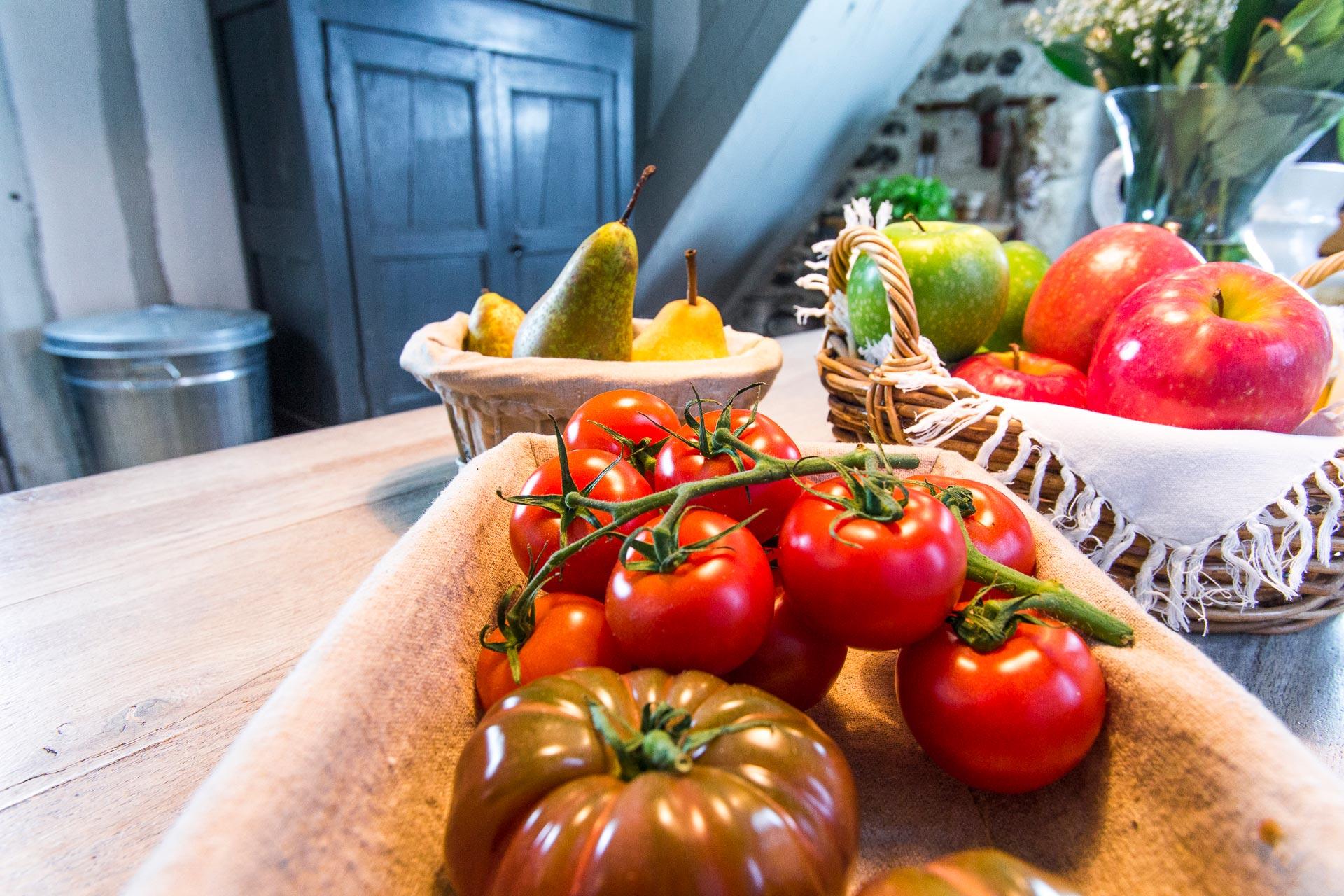 les tomates du potager du Domaine d'Ablon Normandie