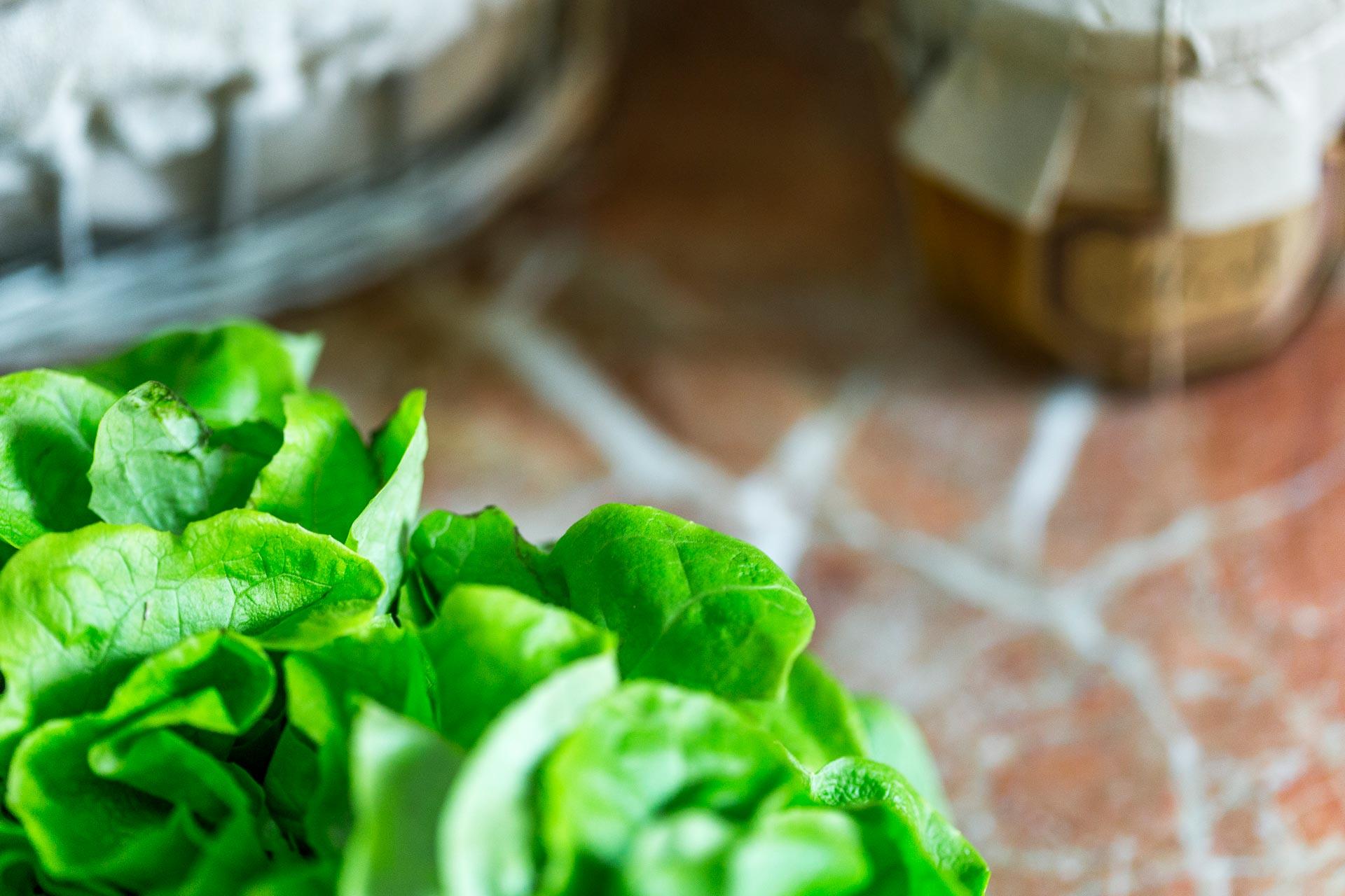 les salades croquantes du Domaine d'Ablon Normandie