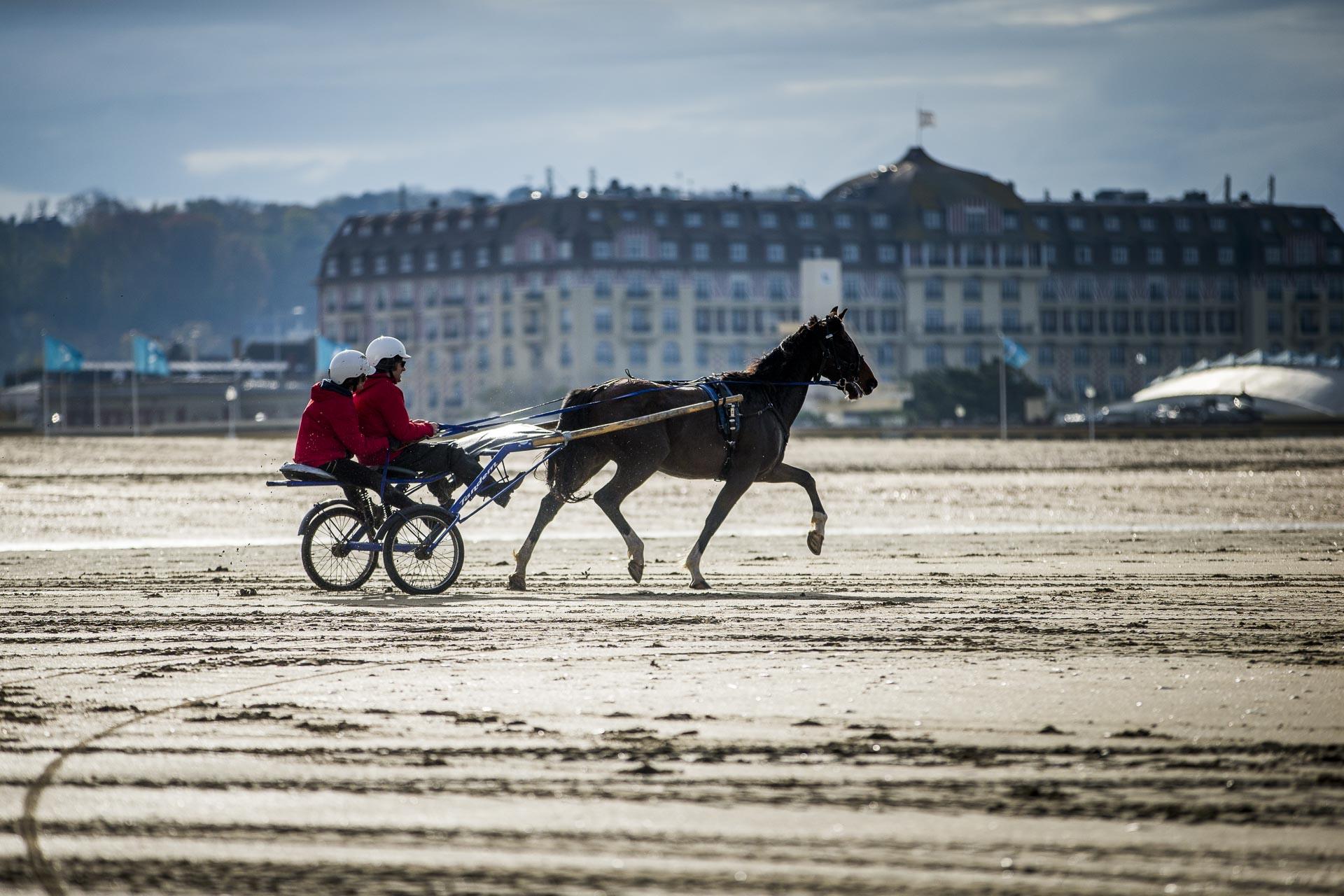 sulky plage de Deauville le domaine d'ablon