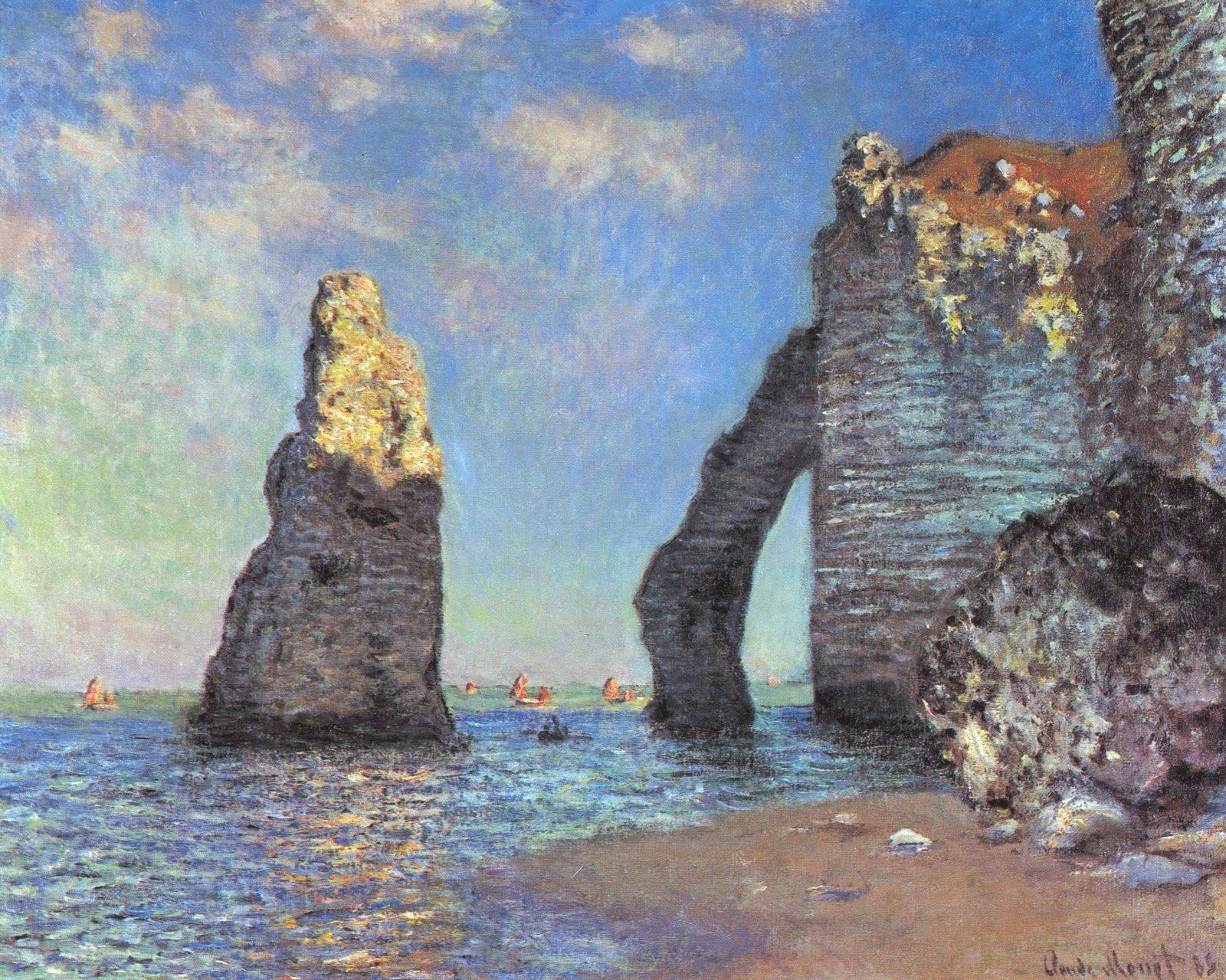 Claude Monet les falaises d'Etretat