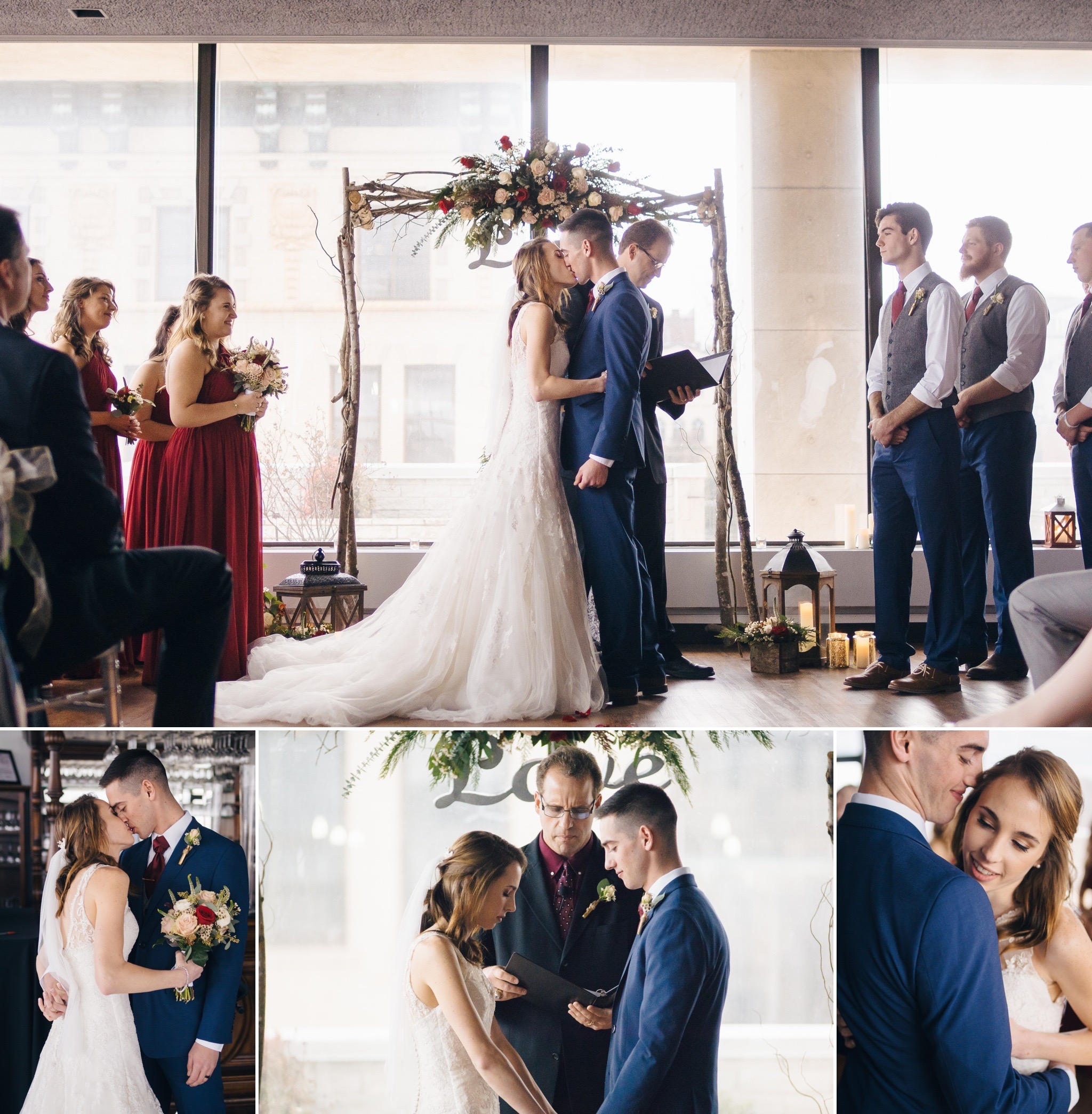 Copy of rustic chic wedding at city view terrace view by the james and craddock terry hotel downtown lynchburg va by jonathan hannah photography
