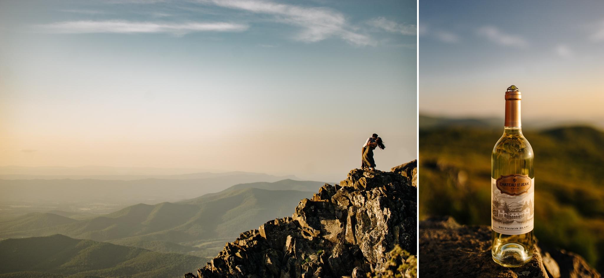little stony man mountain engagement session shenandoah national park luray virginia jonathan hannah photography