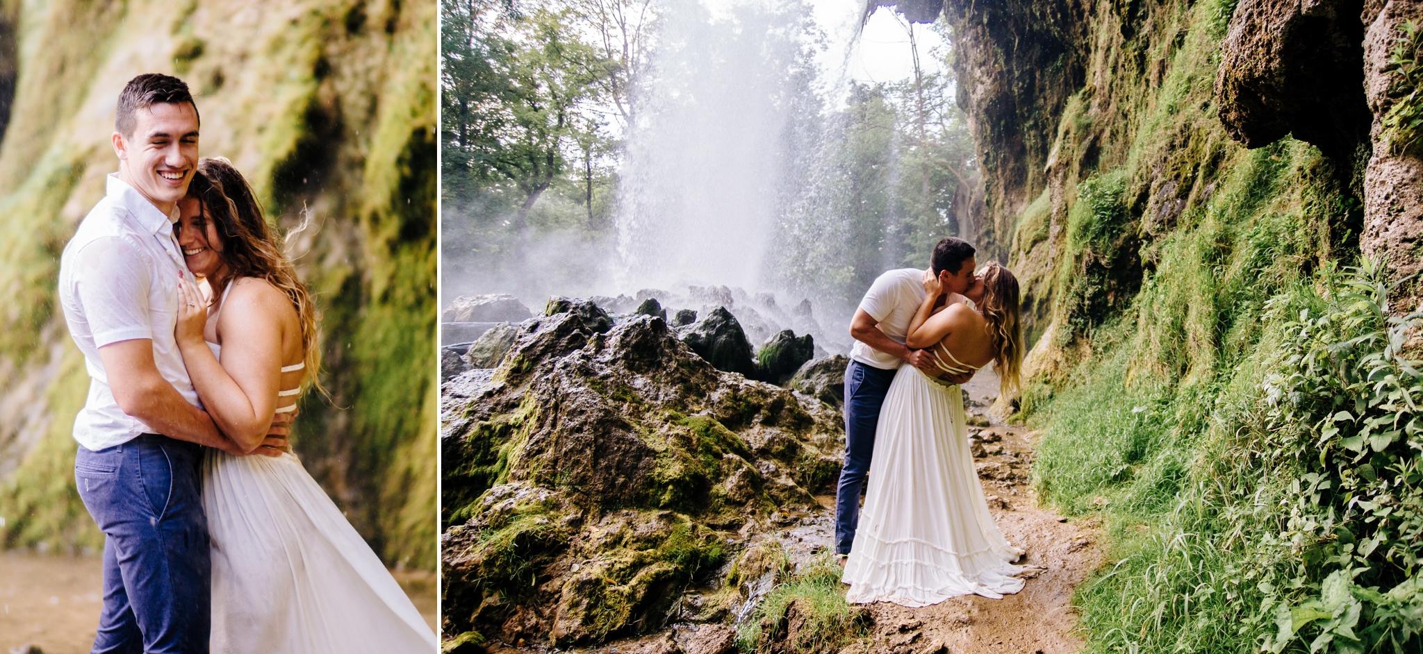 Falling Springs Falls Lynchburg Virginia Wedding photographer Jonathan Hannah Photography waterfall engagement