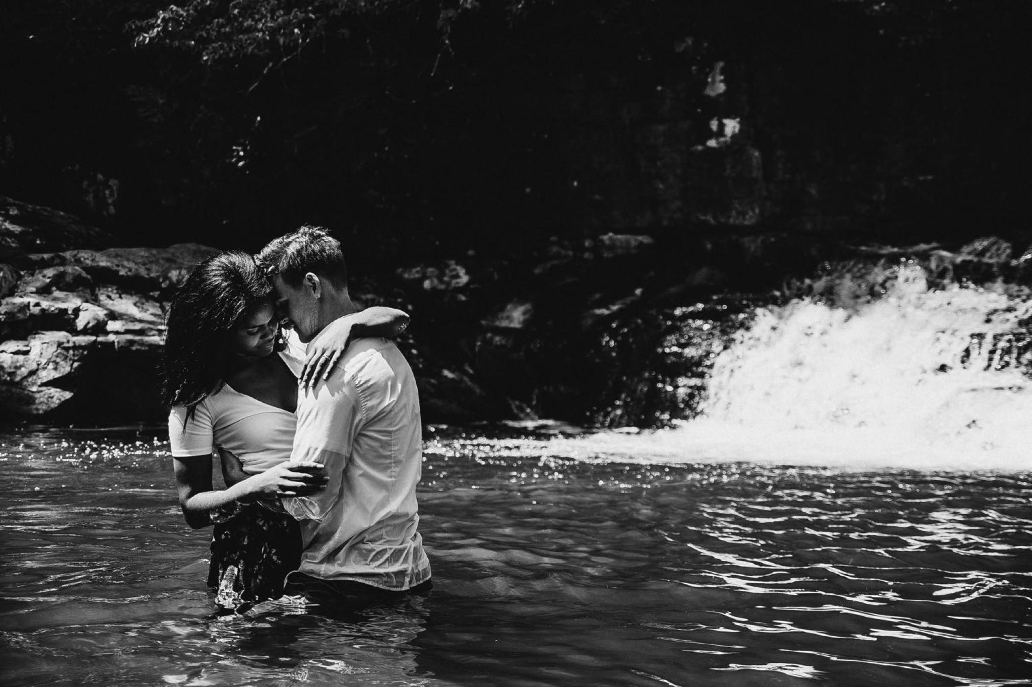Dismal Falls VA Waterfall engagement Lynchburg Virginia Wedding photographer Jonathan Hannah Photography