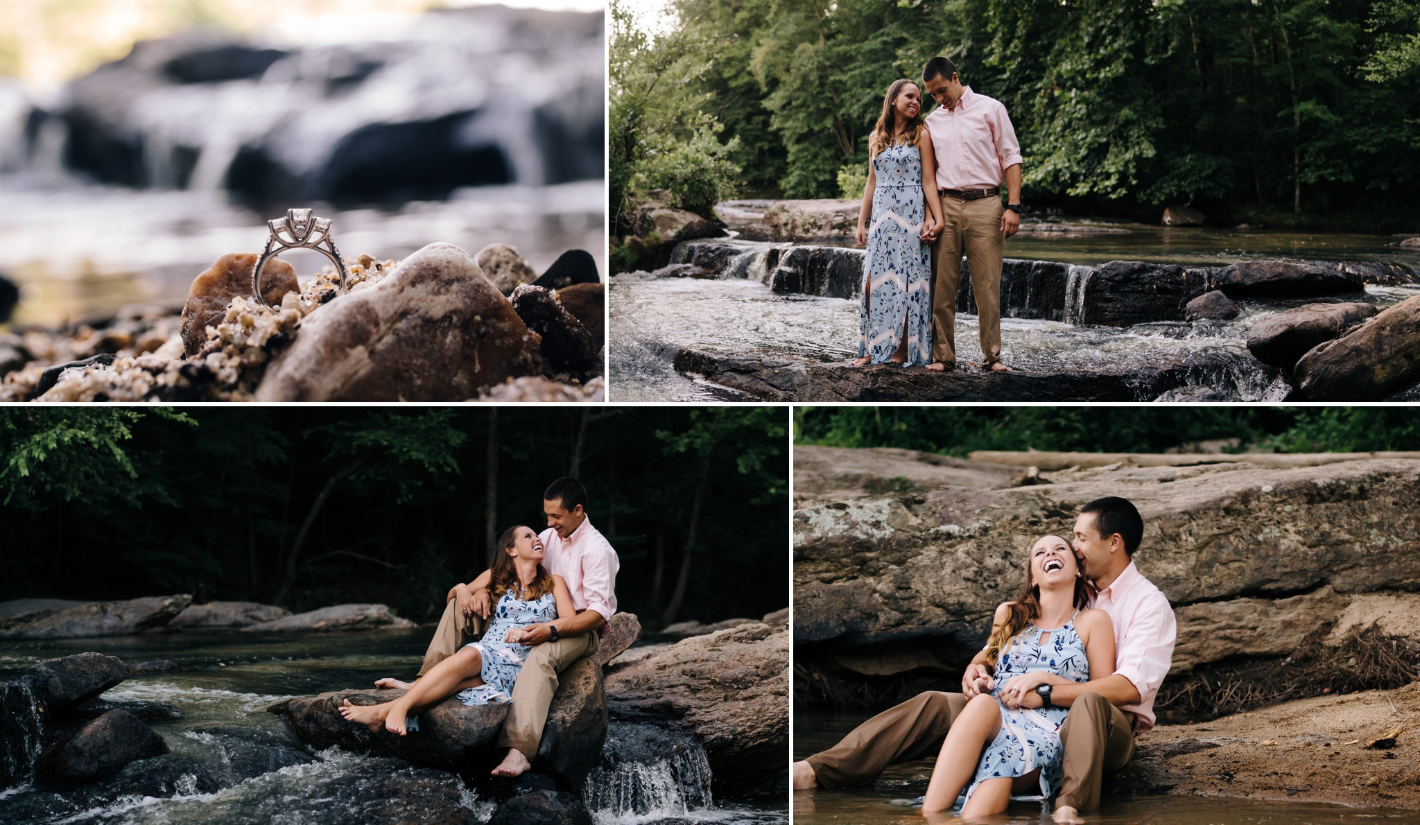 engagement_session_in_Virginia_at_waterfall_by_Jonathan_Hannah_photography