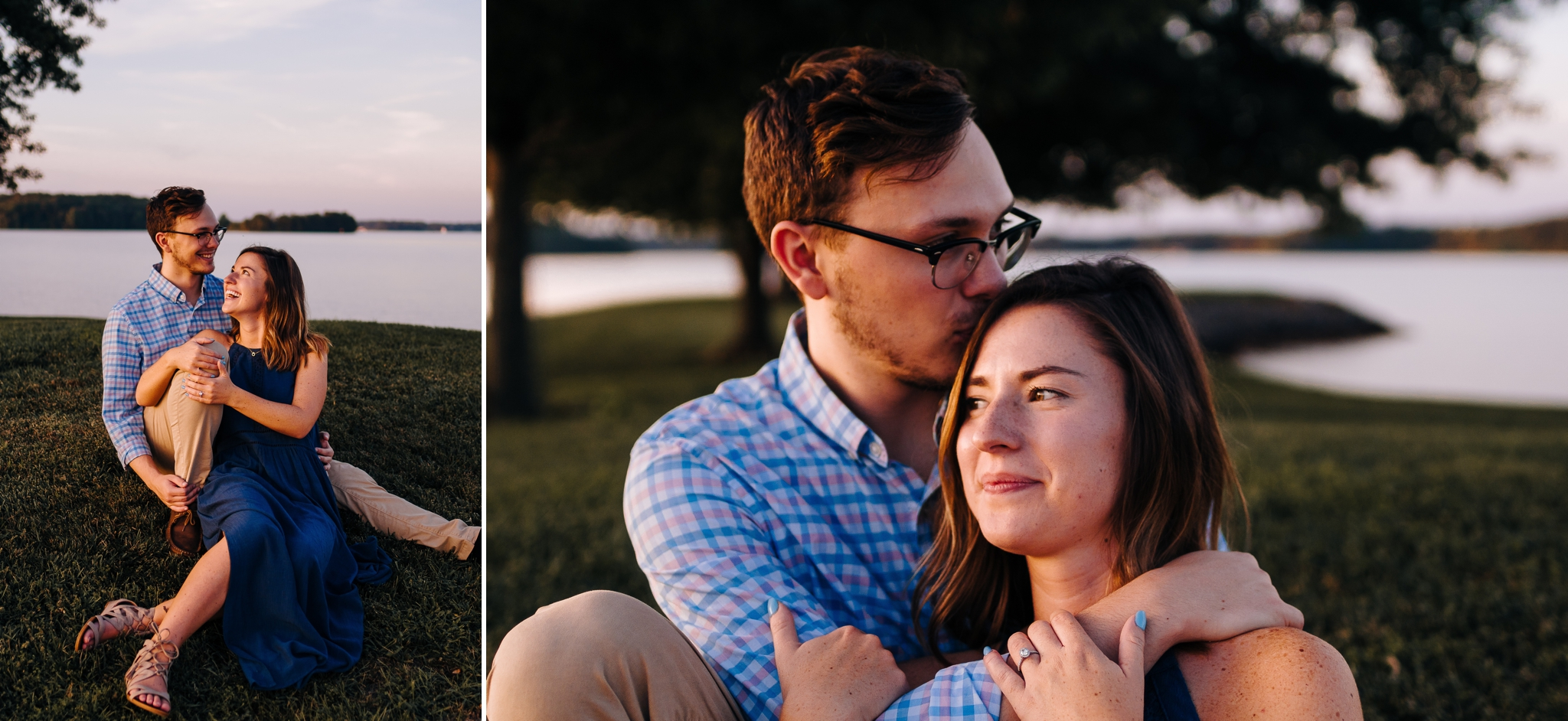 Engaged_couple_on_golf_course_at_smith_mountain_lake_Virginia_by_Jonathan_and_hannah_photography