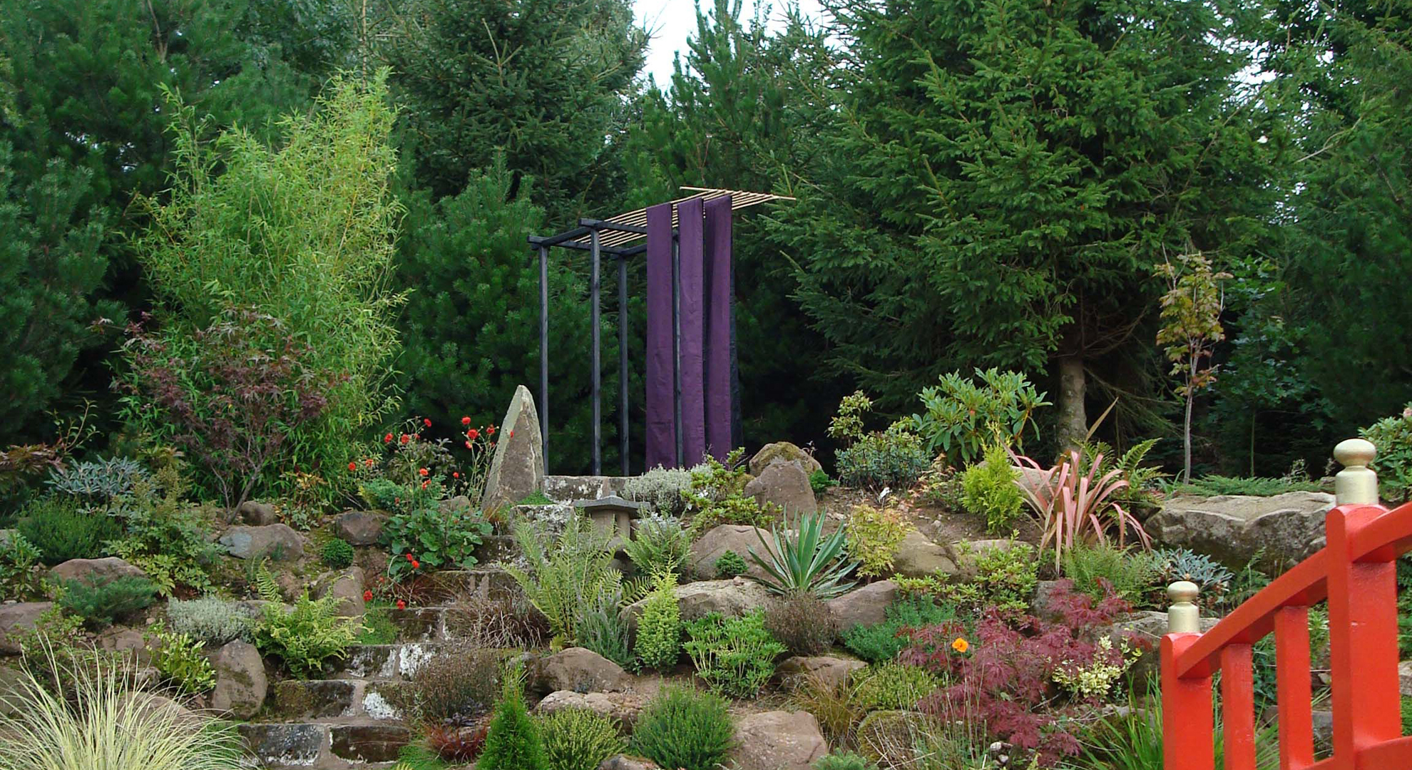 """2008 """"Obi"""" The Japanese Garden within Mount Pleasant Garden, Cheshire."""