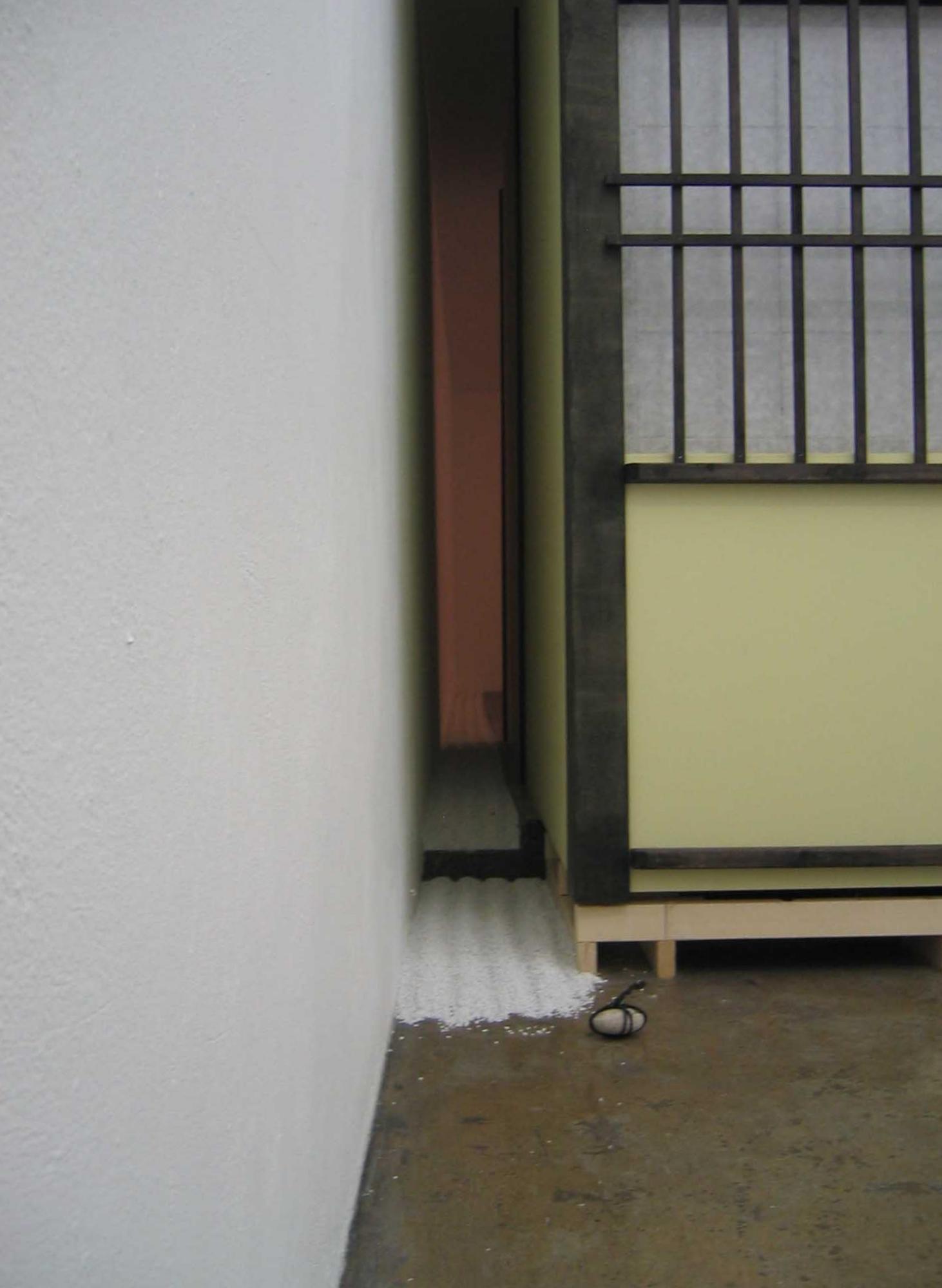 "2005 ""Japanese Tea house"" Eight mat, non functional indoor sculpture at Gallery Sævars Karls, Reykjavík, Iceland."