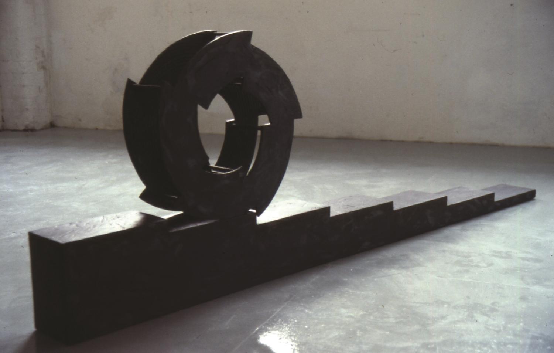 """1994 """"Wheel descending a staircase"""" mixed media Image Hlynur Helgason."""