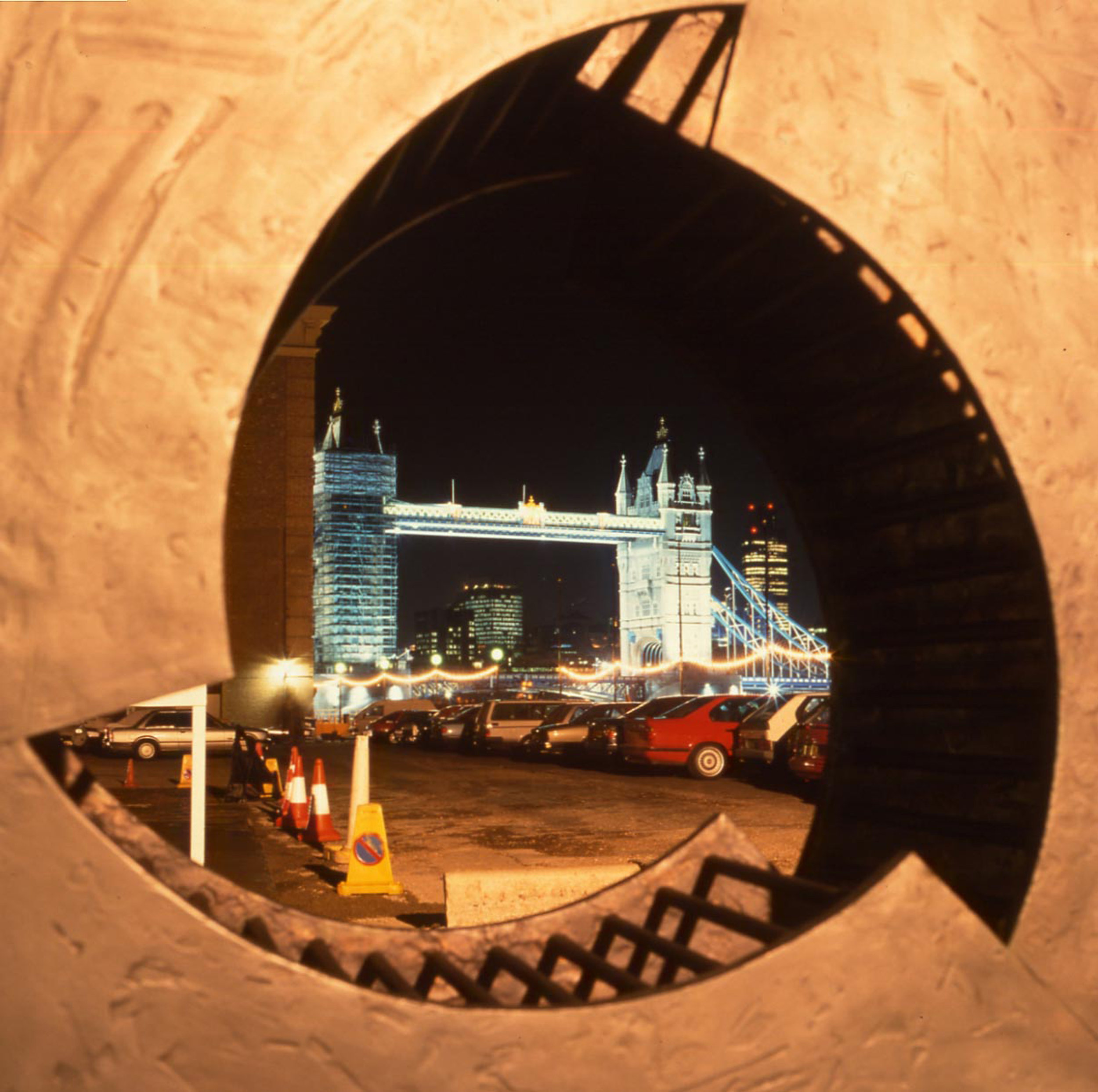 "1992 ""Wheel of Progress"" site specific, the Design Museum, London. Image Nick Morris."