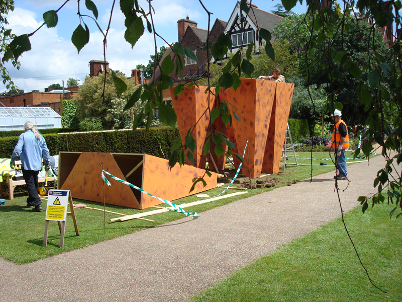 "2009 ""Skylight"" Harold Martin Botanic Garden, Leicester, England, temporary sculpture"