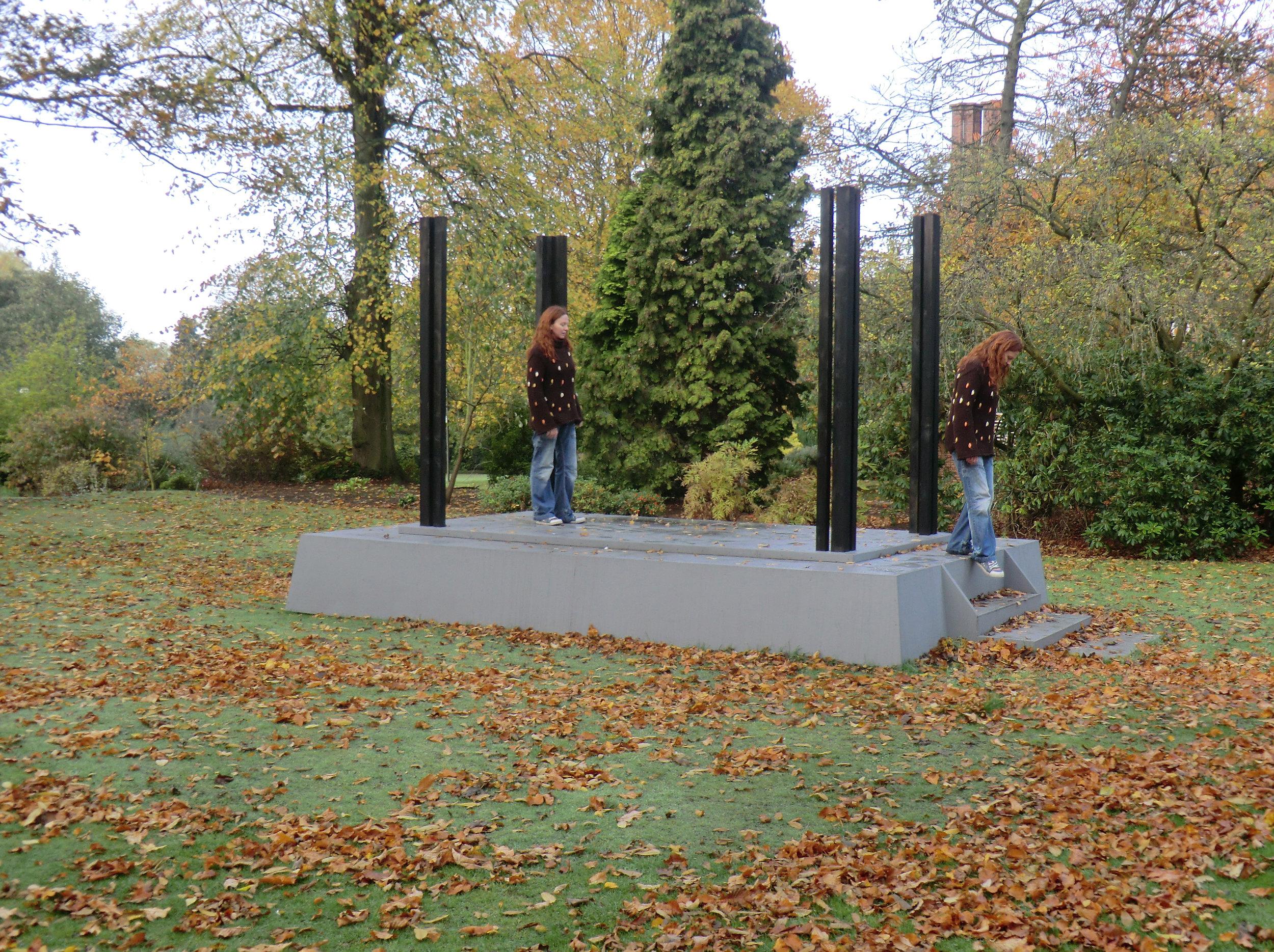 """2011 """"The Absent Belfry Shö-Rö"""" Autumn, Harold Martin Botanic Garden, Leicester, England."""
