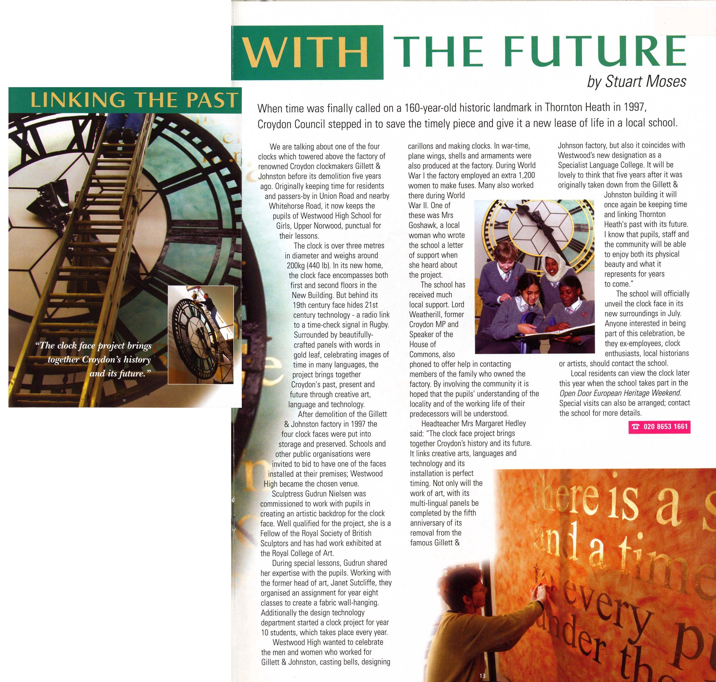 14 2002 Linking the past with the future Croydon Reports text Stuart Moses June Issue 39.jpg